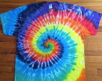Rainbow Spiral Tie Dye T-shirt