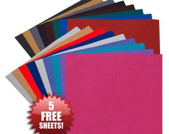 "Angel Crafts 12"" x 12"" SPARKLE Glitter Vinyl (20 PACK) - BEST Permanent Self Adhesive Vinyl Sheets"