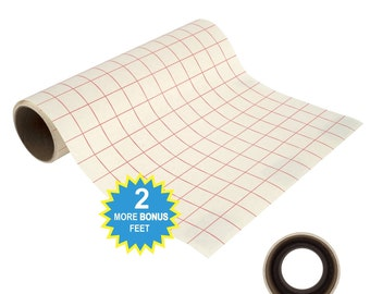 12 x 8 Transfer Tape Roll, Grid Transfer Paper, Vinyl Transfer Tape, Adhesive Vinyl Tape, Adhesive Paper, Adhesive Craft Paper