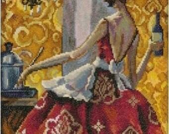Cross Stitch Kit by RTO - Trish Biddle - Glamorous Women in Fabulous Places.