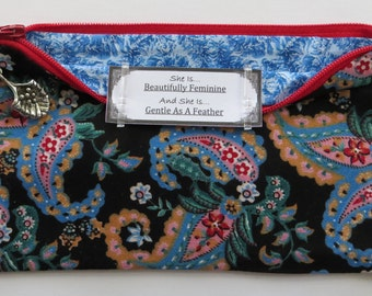 Persette #2 Personalized Zippered Organizing Pouch