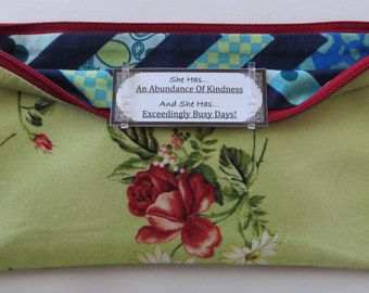 Persette #61 Personalized Zippered Organizing Pouch