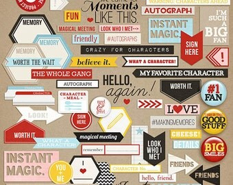 Project Mouse: Character Word Bits - Perfect for Project Life & Digital Scrapbooking Disney, Mickey Mouse