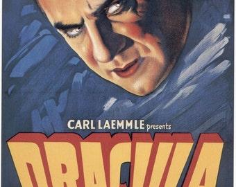 DRACULA Movie Poster RARE Horror Vampires Universal Monsters