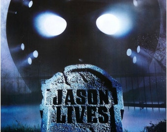 FRIDAY The 13TH VI Jason Lives Movie Poster Horror Jason Vorhees