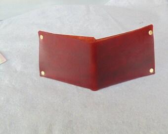 Leather Minimal Wallet - Ox Blood