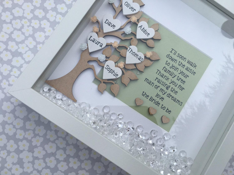 Family Tree Wedding Gift: Wedding Family Tree Wedding Day Gift Personalised Frame