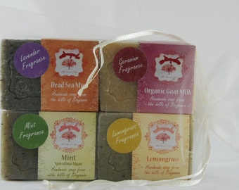 GIFT Pack HANDMADE 4 bars Natural Soaps