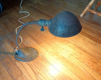 Alladin desk lamp with original finish and wiring