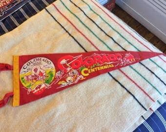 Colorado Banner pennant Centenial 1959