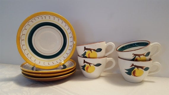 Stangl Fruit Cups and Saucers (4) #3697