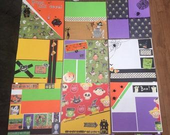 Halloween premade 8x8 scrapbook