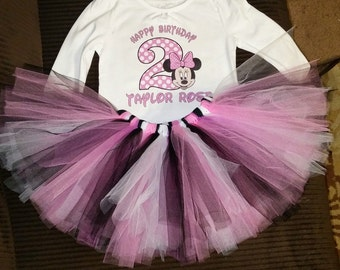 Minnie birthday tutu
