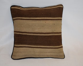 FREE SHIPPING ---- Hand Woven Highly Decorative Vintage Kilim Pillow, Cushion Cover, Pillow Cover, Throw Pillow, Toss Pillow
