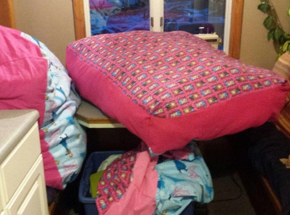 Items similar to Giant Floor Pillows Bean Bag Chair Cover Floor Cushion Stuffed Animal Storage ...