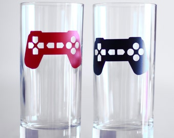 20 game controller stickers, video game party decorations, invitation seal, removable wallpaper, video game decals, video game party favors