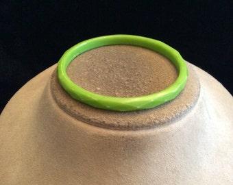 Vintage Green Bangle Bracelet