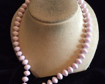Vintage Lilac Colored Beaded Necklace