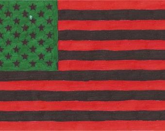 African-American flag