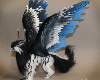 The Griffin 2, soft toy, toys handmade