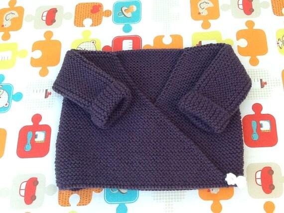 brassi re gilet cache coeur b b tricot laine layette cadeau. Black Bedroom Furniture Sets. Home Design Ideas