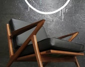 Mid Century Selig Style Z Chair