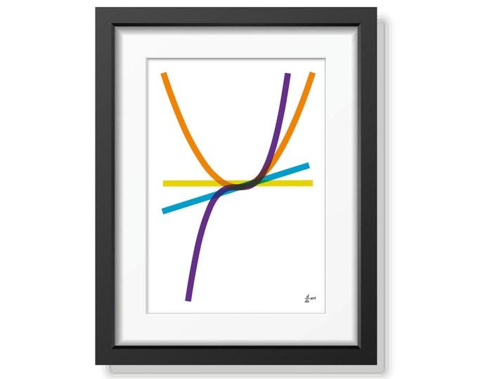 Derivatives 07 [mathematical abstract art print, unframed] A4/A3 sizes