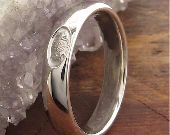 Scottish Thistle 4mm platinum wedding ring ETTHPLAT4mm
