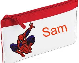 Personalised Spiderman Pencil Case