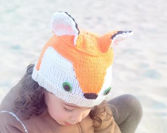 2# Knitted Fox Toddler Child Beanie