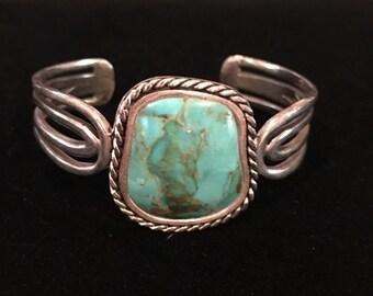 Sterling Turquoise Signed Barse Bracelet