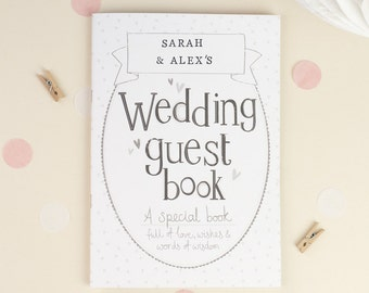 Wedding Guest Book. Personalized wedding guest book. Simple Guest book. Wedding keepsake book.