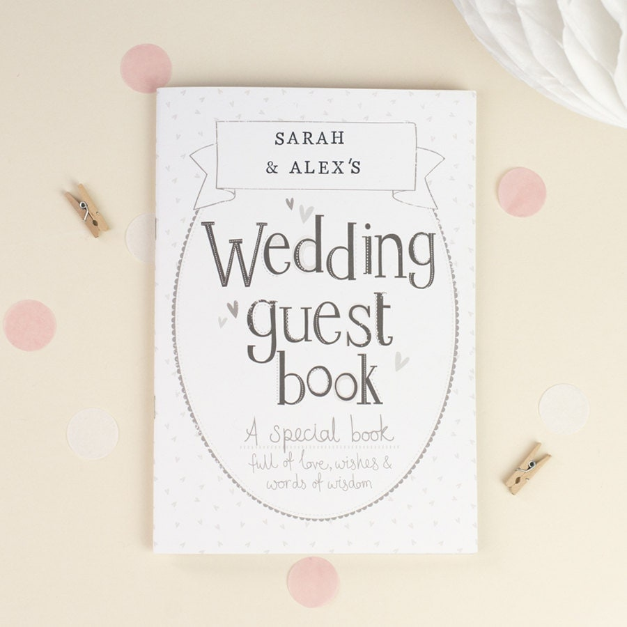Wedding Guest Book Personalized Wedding Guest Book Simple