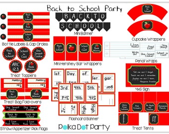 Back to School Party Printable Package