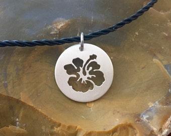 Handpierced Hibiscus Pendant-Hibiscus Jewelry-Flower Jewelry