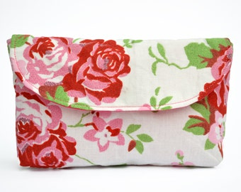 Small Make Up Bag, Phone Pouch, Cosmetic Bag, Makeup bag, Cath Kidston, mini clutch, White Bag, Cath Kidston Bag, Small Bag, Small Pouch