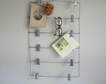 Vintage Metal Skirt / Pant Hanger Repurposed As Memo Display