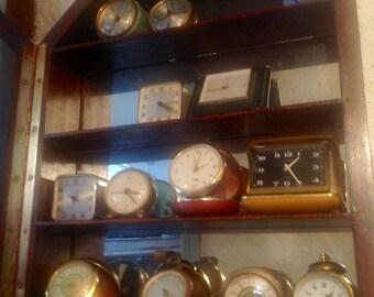 Group of desk/travel/alarm clocks