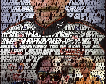Dale Earnhardt, Sr. Quotes Collage Poster