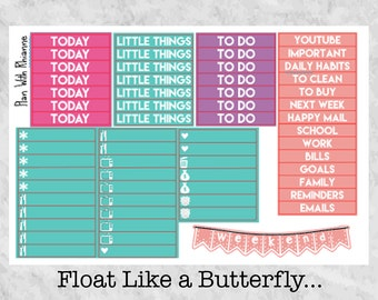 Float Like a Butterfly... Headers and Little Things for the Erin Condren Life Planner