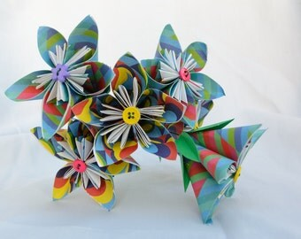 Origami Paper Flower Decoration (Set of 5)