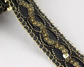 5 Metres x Metallic Sequin Weave Trim 30mm [Trim Ref T3222]