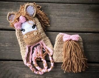 Adorable Crochet Pony Hat