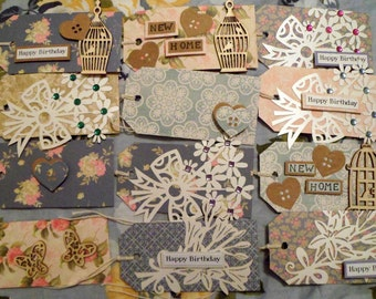 Gift Tag Assortment - 9 Pieces - New Home, Happy Birthday, Blank