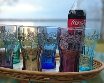 Set of 8 Coca-Cola glasses