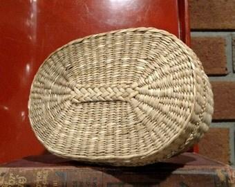 Vintage Covered Sweet Grass Basket/ Native American