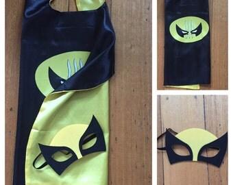 Kids Cape & Mask Set - Wolverine