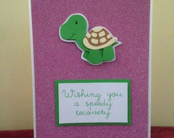 Speedy Recovery Get Well Soon Tortoise Card