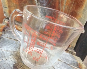 Pyrex 1 (One) Cup Liquid Measuring Cup, One Cup Liquid, Vintage