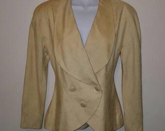 Original vintage Karl Lagerfield silk 80s jacket